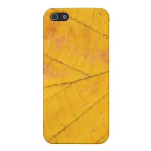 Hoja amarilla iPhone 5 funda