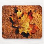 Hoja anaranjada Mousepad del otoño Tapete De Ratón