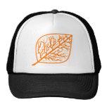Hoja anaranjada quemada gorra
