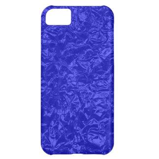 hoja arrugada del azul real funda para iPhone 5C