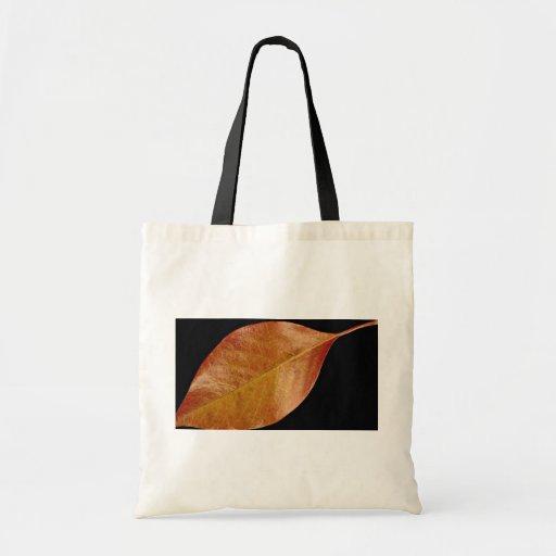 Hoja atractiva de la cereza negra bolsas de mano