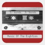 Hoja audio de la cinta de casete de música de colcomanias cuadradases