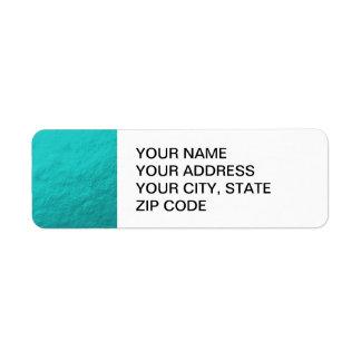 Hoja azul de la aguamarina ciánica impresa etiqueta de remite