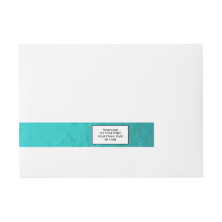 Hoja azul de la aguamarina ciánica impresa etiquetas postales