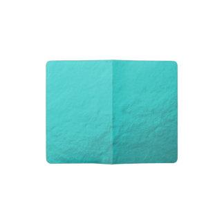 Hoja azul de la aguamarina ciánica impresa