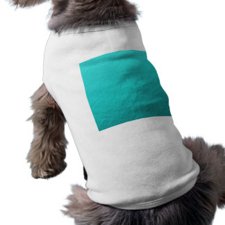 Hoja azul de la aguamarina ciánica impresa camiseta sin mangas para perro