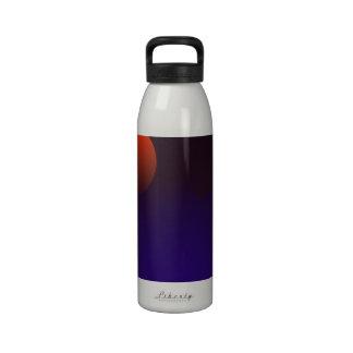 Hoja azul del Ginkgo Botella De Agua