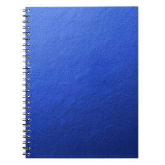 Hoja azul impresa libro de apuntes