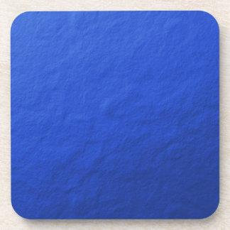 Hoja azul impresa posavasos de bebidas