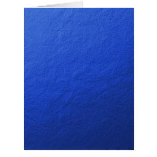 Hoja azul impresa tarjeta de felicitación grande