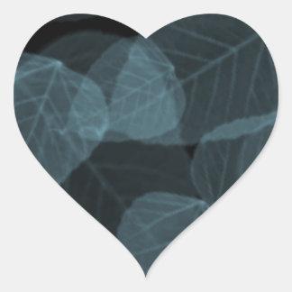 Hoja azul X-Ray.png Pegatina En Forma De Corazón