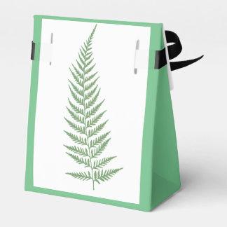 Hoja botánica presionada del helecho - color de la cajas para detalles de boda