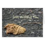 Hoja caida marchitada/perdido sin usted felicitacion