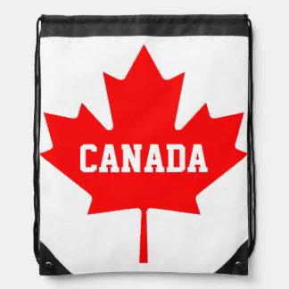 Hoja canadiense del mapple del bolso de lazo de la mochila