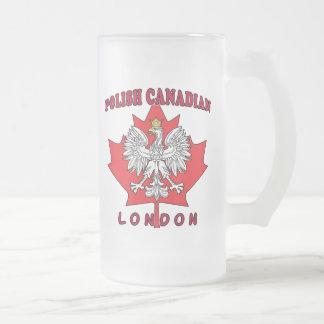 Hoja canadiense polaca de Londres Taza De Cristal
