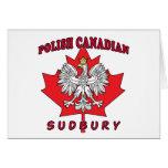 Hoja canadiense polaca de Sudbury Felicitaciones