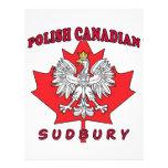 Hoja canadiense polaca de Sudbury Tarjetas Publicitarias