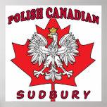 Hoja canadiense polaca de Sudbury Impresiones