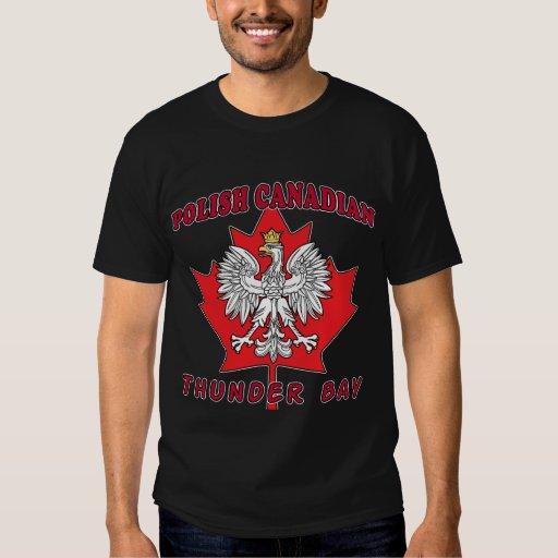 Hoja canadiense polaca de Thunder Bay Playera