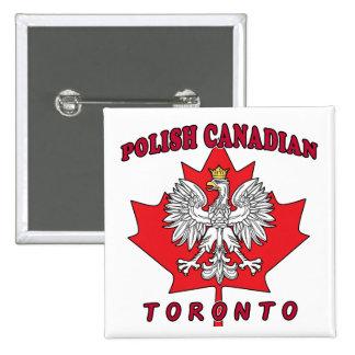 Hoja canadiense polaca de Toronto Pins