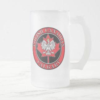 Hoja canadiense polaca redonda de Calgary Taza De Cristal