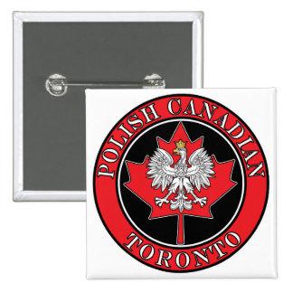 Hoja canadiense redonda polaca de Toronto Pin
