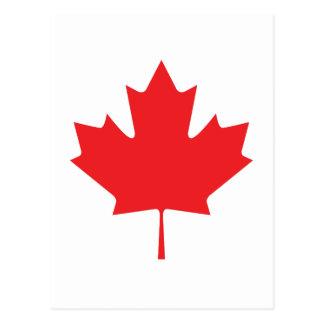HOJA CANADIENSE TARJETA POSTAL