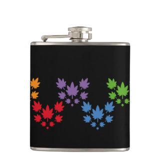 Hoja colores arcoiris vectorial de planta. Plant. Flask