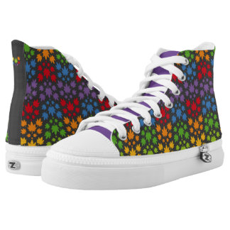 Hoja colores arcoiris vectorial de planta. Plant. High-Top Sneakers