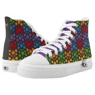 Hoja colores arcoiris vectorial de planta. Plant. Printed Shoes