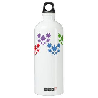 Hoja colores arcoiris vectorial de planta. Plant. Water Bottle