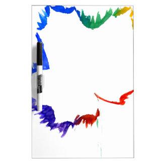 Hoja colorida del aguazo pizarras