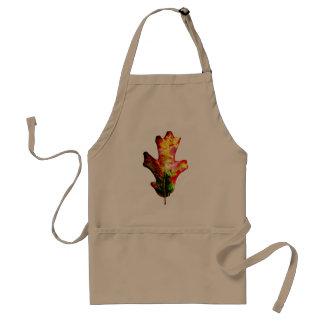 Hoja colorida del roble del otoño delantal