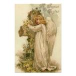 Hoja cruzada cristiana del lirio del ángel impresiones fotográficas