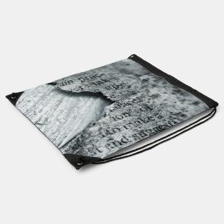 hoja dañada vieja del trapo mochila