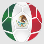 Hoja de 20 pegatinas modernos mexicanos del balón pegatina redonda