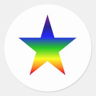 Hoja de 20 pequeños pegatinas de la estrella del pegatina redonda