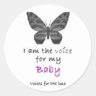 Hoja de 20 soy la voz para mis rosas bebés pegatinas redondas