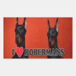 Hoja de 4 - pegatinas del Doberman del amor de I