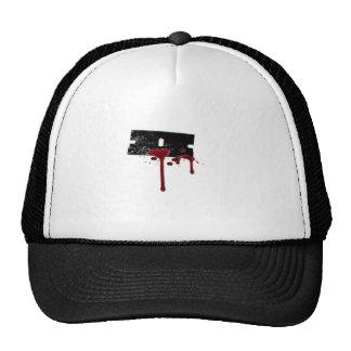 Hoja de afeitar sangrienta gorras de camionero