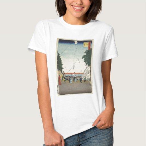 Hoja de Ando Hiroshige el puesto avanzado del seki T Shirts