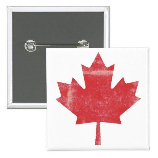 Hoja de arce apenada Canadá Pin Cuadrada 5 Cm