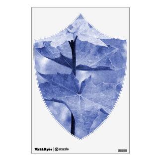 Hoja de arce azul vinilo