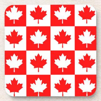 Hoja de arce blanca roja de Canadá de los controle Posavasos