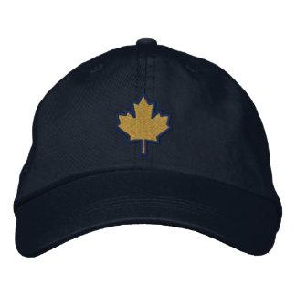Hoja de arce bordada bordado canadiense gorra bordada