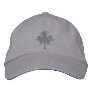 Hoja de arce bordada bordado canadiense gorra de béisbol
