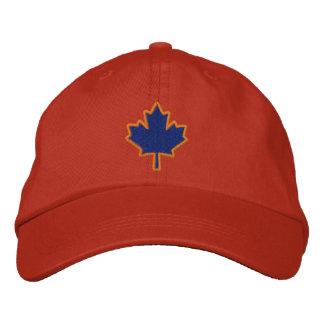 Hoja de arce bordada bordado canadiense gorras bordadas