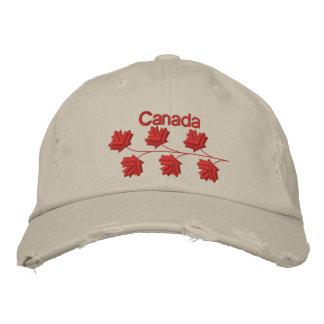 Hoja de arce Canadá Gorras De Beisbol Bordadas