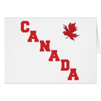 Hoja de arce Canadá Felicitacion