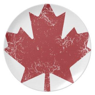Hoja de arce canadiense (apenada) platos
